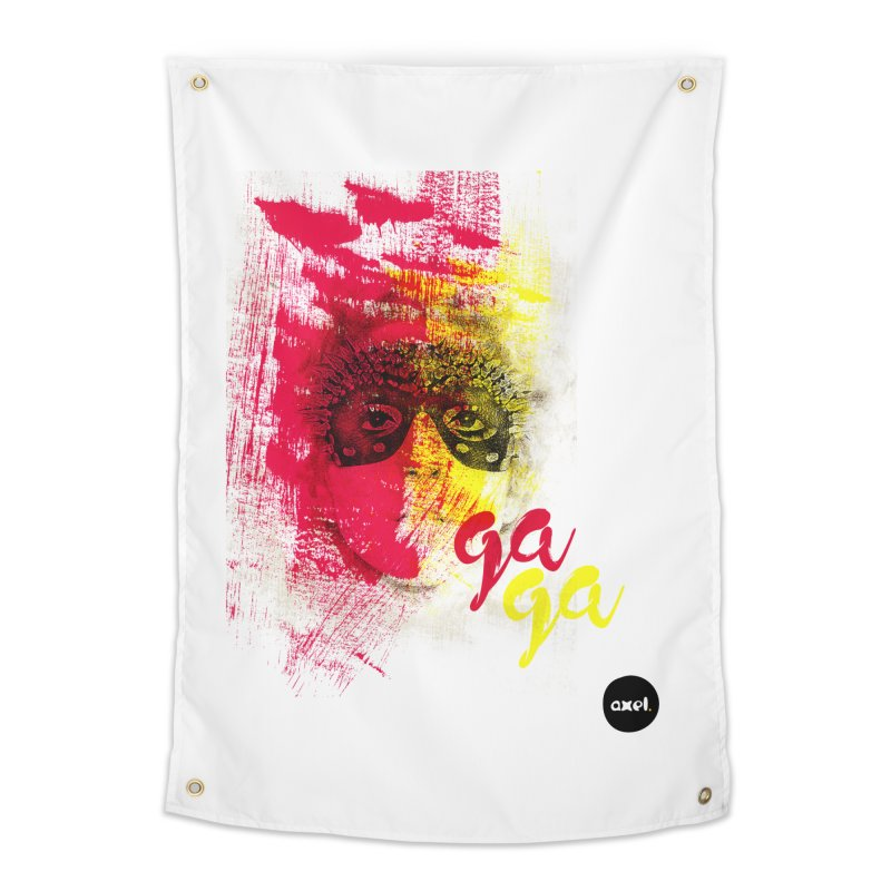 Gaga goes color Home Tapestry by axelsavvides's Artist Shop