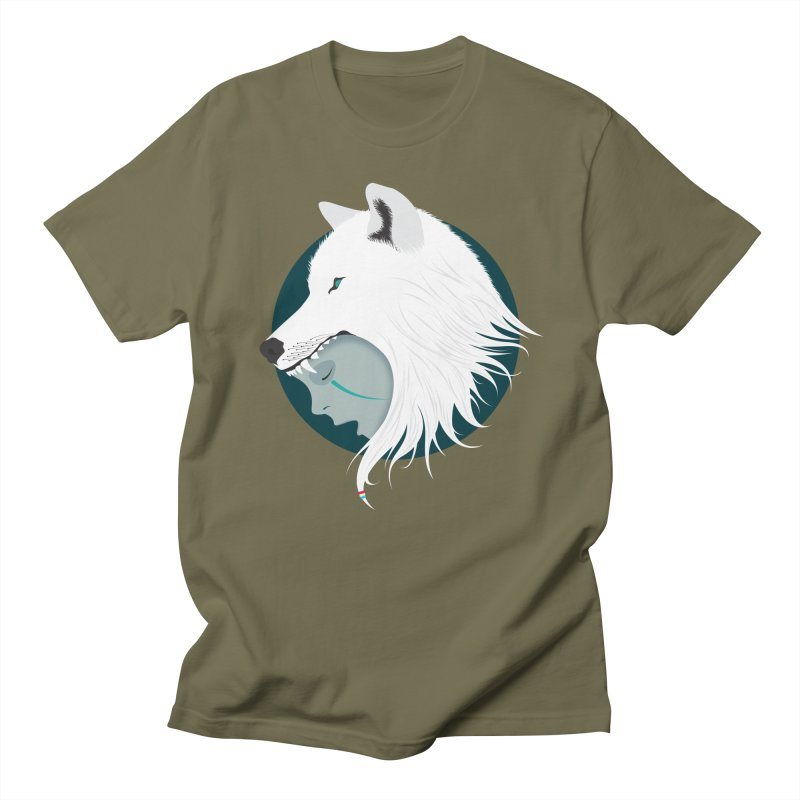 Boy Cries Wolf Men's T-shirt by ayarti's Artist Shop