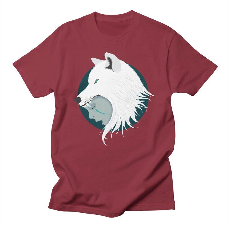 Boy Cries Wolf Men's T-Shirt by ayarti's Artist Shop