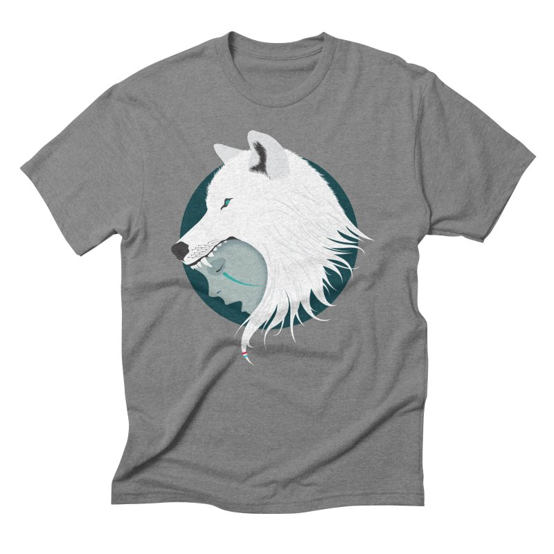 Boy Cries Wolf Men's Triblend T-Shirt by ayarti's Artist Shop