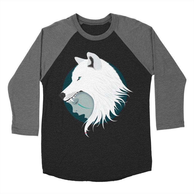 Boy Cries Wolf Men's Baseball Triblend T-Shirt by ayarti's Artist Shop