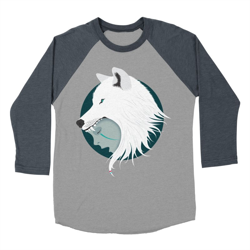 Boy Cries Wolf Men's Baseball Triblend T-Shirt by ayarti's Artist Shop