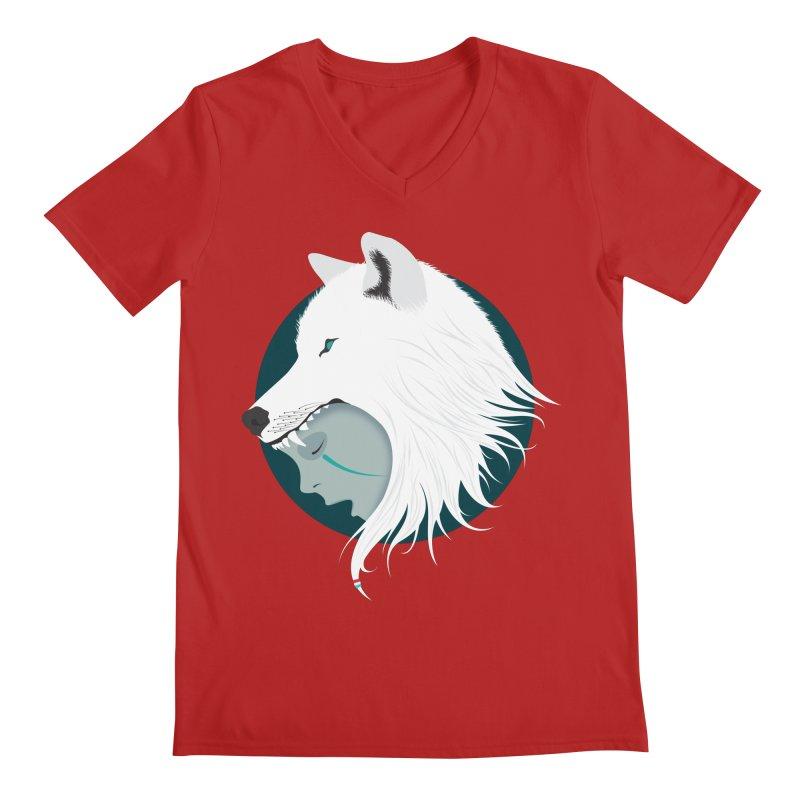 Boy Cries Wolf Men's V-Neck by ayarti's Artist Shop