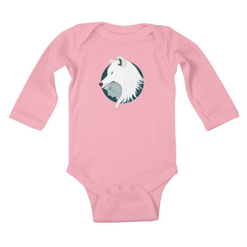 Boy Cries Wolf Kids Baby Longsleeve Bodysuit by ayarti's Artist Shop