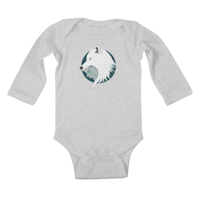 Boy Cries Wolf Kids Baby Longsleeve Bodysuit by ayarti's Artist Shop