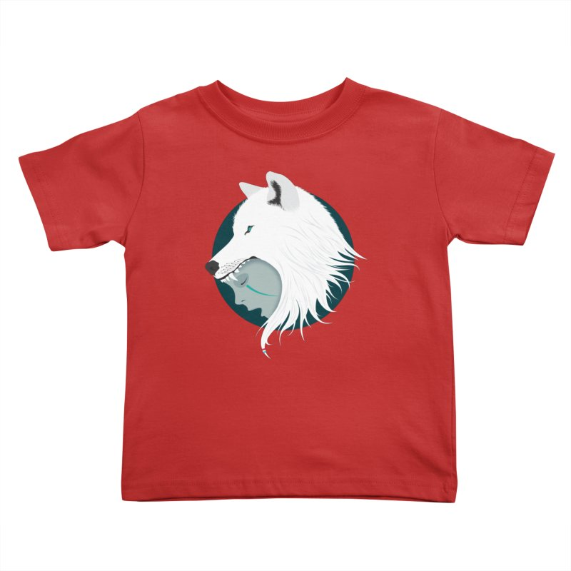 Boy Cries Wolf Kids Toddler T-Shirt by ayarti's Artist Shop