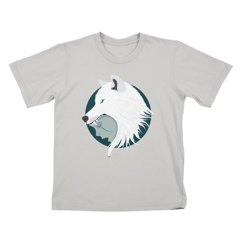 Boy Cries Wolf Kids T-shirt by ayarti's Artist Shop
