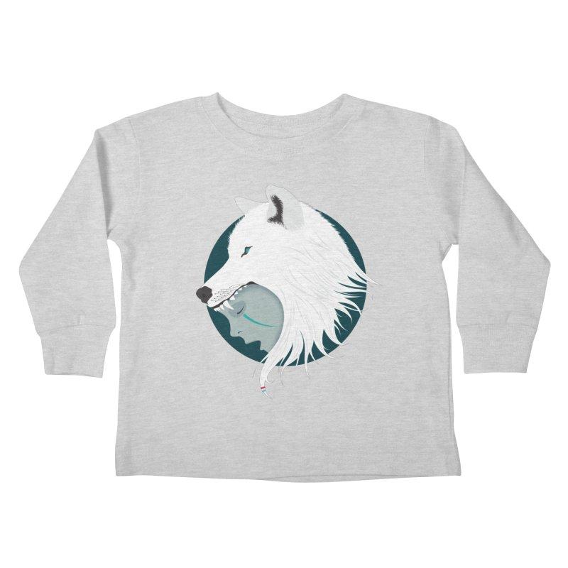 Boy Cries Wolf Kids Toddler Longsleeve T-Shirt by ayarti's Artist Shop