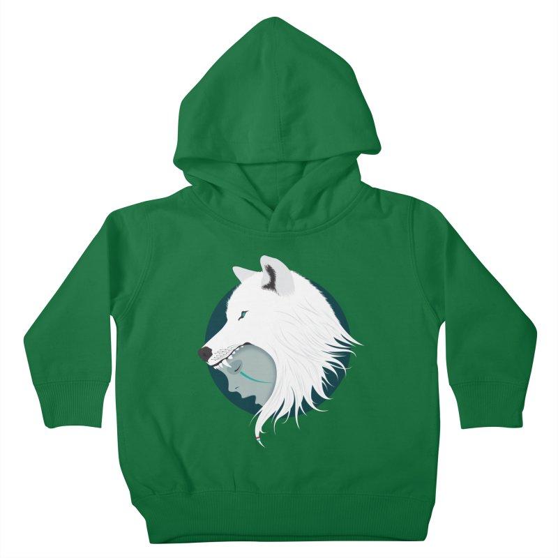 Boy Cries Wolf Kids Toddler Pullover Hoody by ayarti's Artist Shop