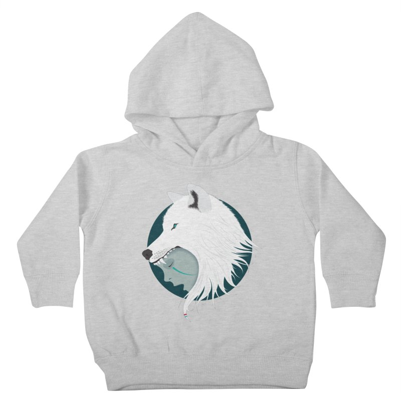 Boy Cries Wolf Kids Toddler Pullover Hoody by ayarti's Artist Shop