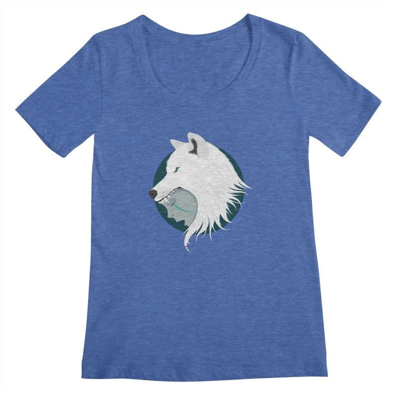 Boy Cries Wolf Women's Scoopneck by ayarti's Artist Shop
