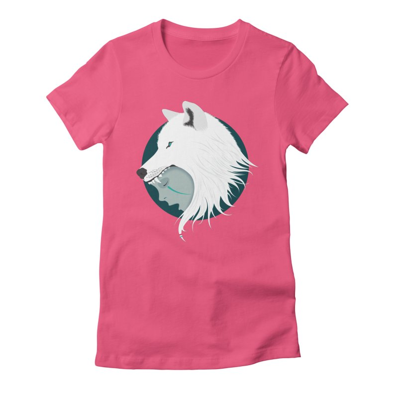 Boy Cries Wolf Women's Fitted T-Shirt by ayarti's Artist Shop