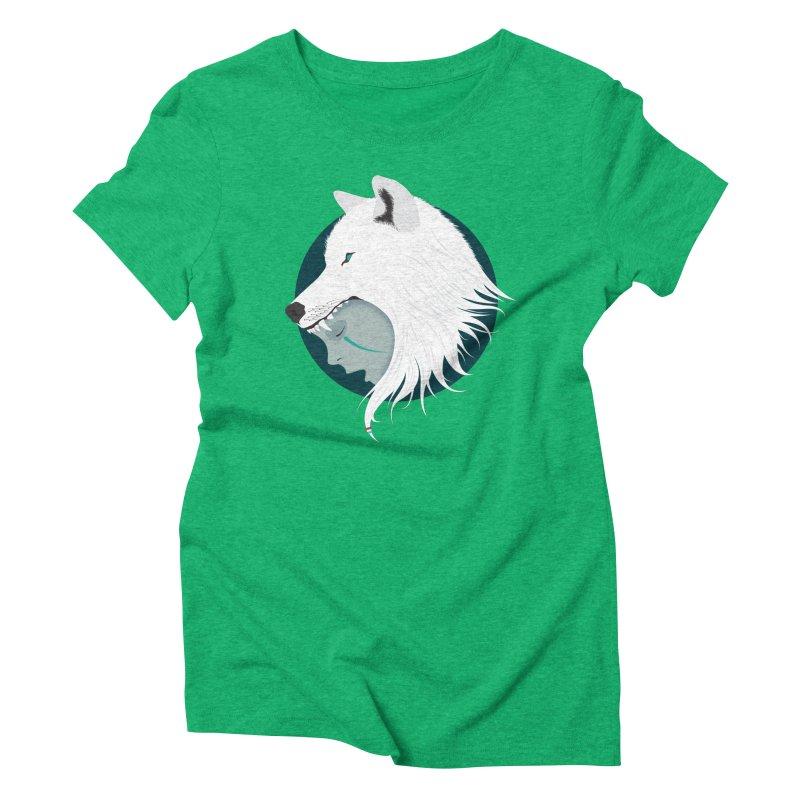 Boy Cries Wolf Women's Triblend T-Shirt by ayarti's Artist Shop