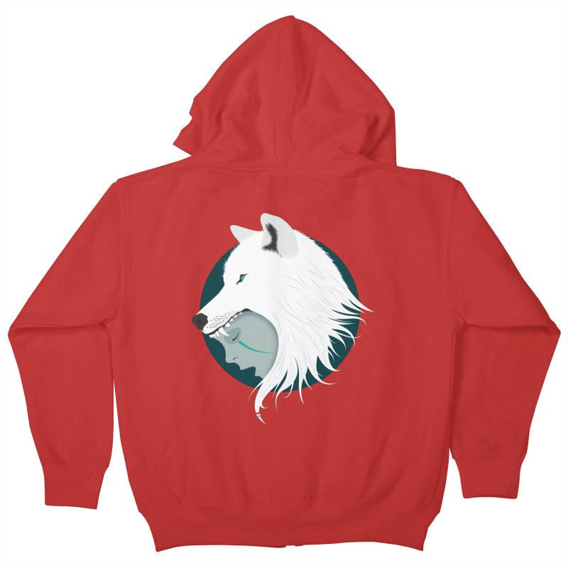 Boy Cries Wolf Kids Zip-Up Hoody by ayarti's Artist Shop