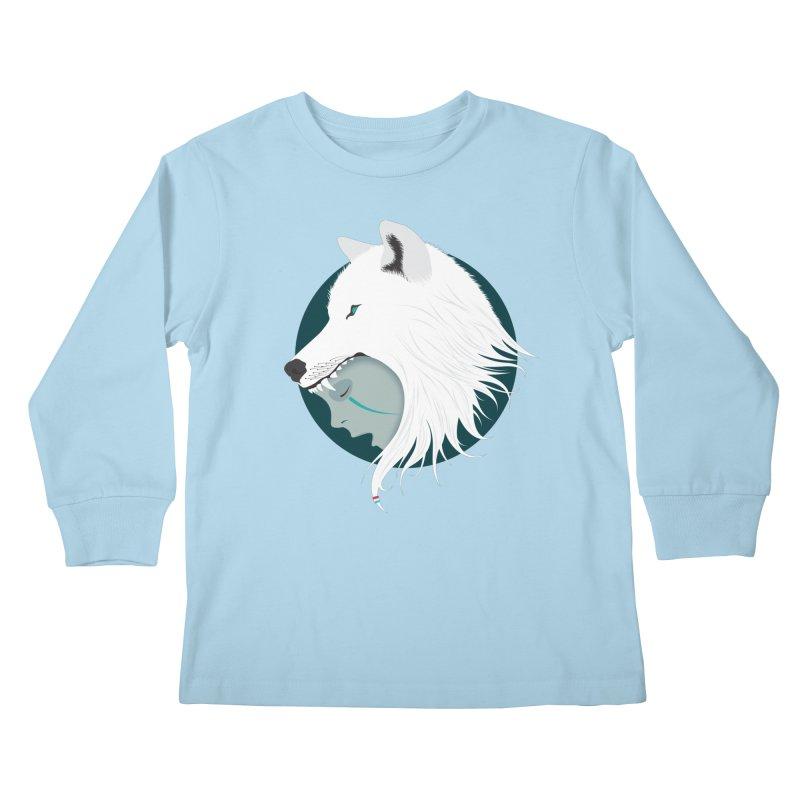 Boy Cries Wolf Kids Longsleeve T-Shirt by ayarti's Artist Shop