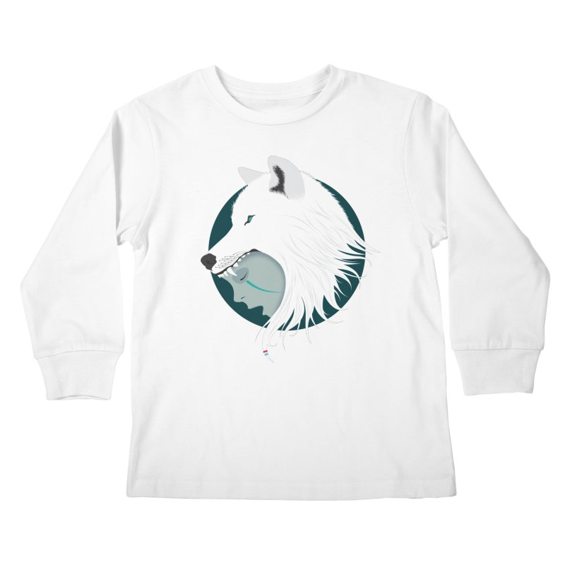 Boy Cries Wolf Kids Longsleeve T-Shirt by ayarti's Artist Shop