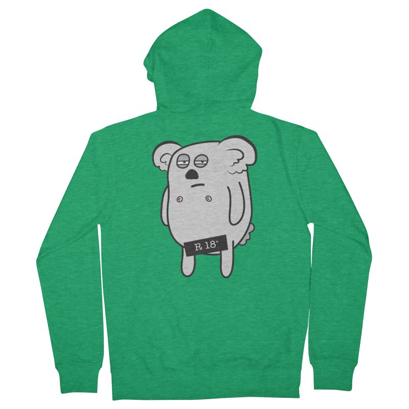 Koala Bare Men's Zip-Up Hoody by ayarti's Artist Shop