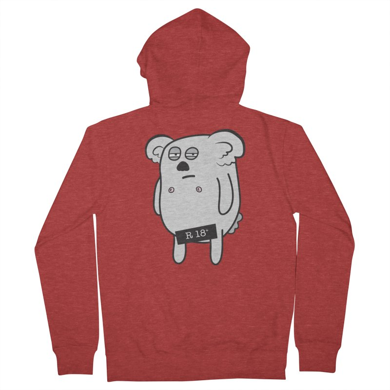 Koala Bare Men's Zip-Up Hoody by ayarti's Artist Shop