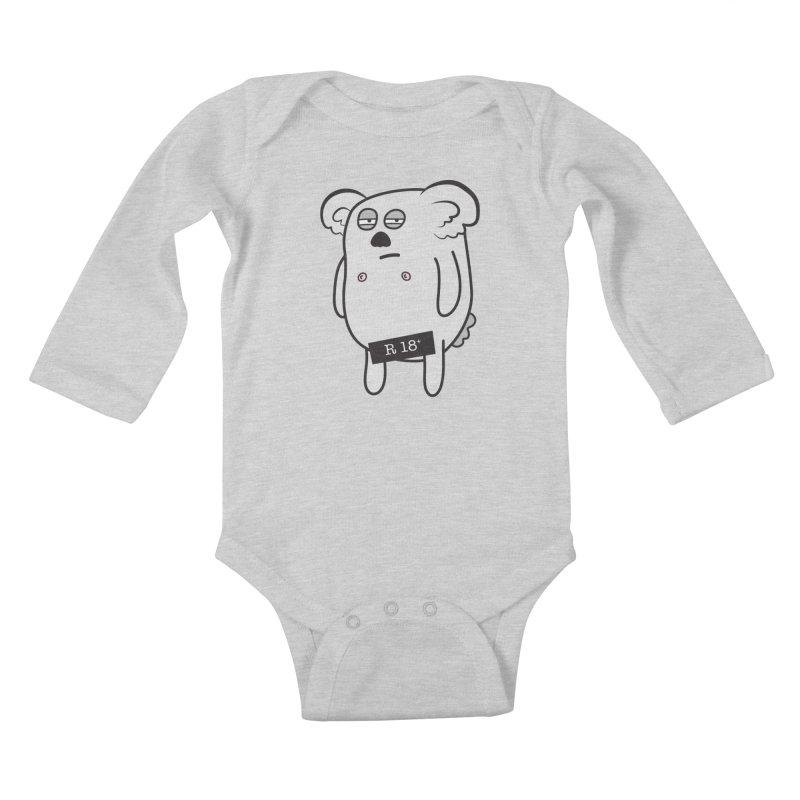 Koala Bare Kids Baby Longsleeve Bodysuit by ayarti's Artist Shop