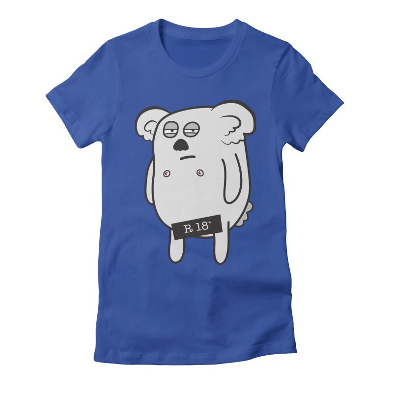 Koala Bare Women's Fitted T-Shirt by ayarti's Artist Shop