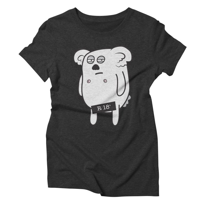 Koala Bare Women's Triblend T-shirt by ayarti's Artist Shop