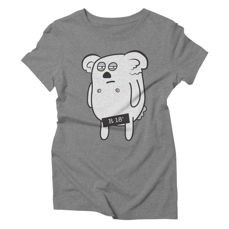 Koala Bare Women's Triblend T-Shirt by ayarti's Artist Shop