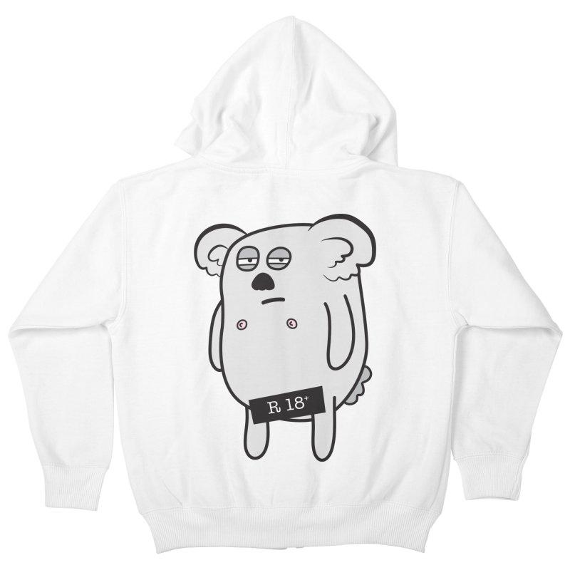 Koala Bare Kids Zip-Up Hoody by ayarti's Artist Shop
