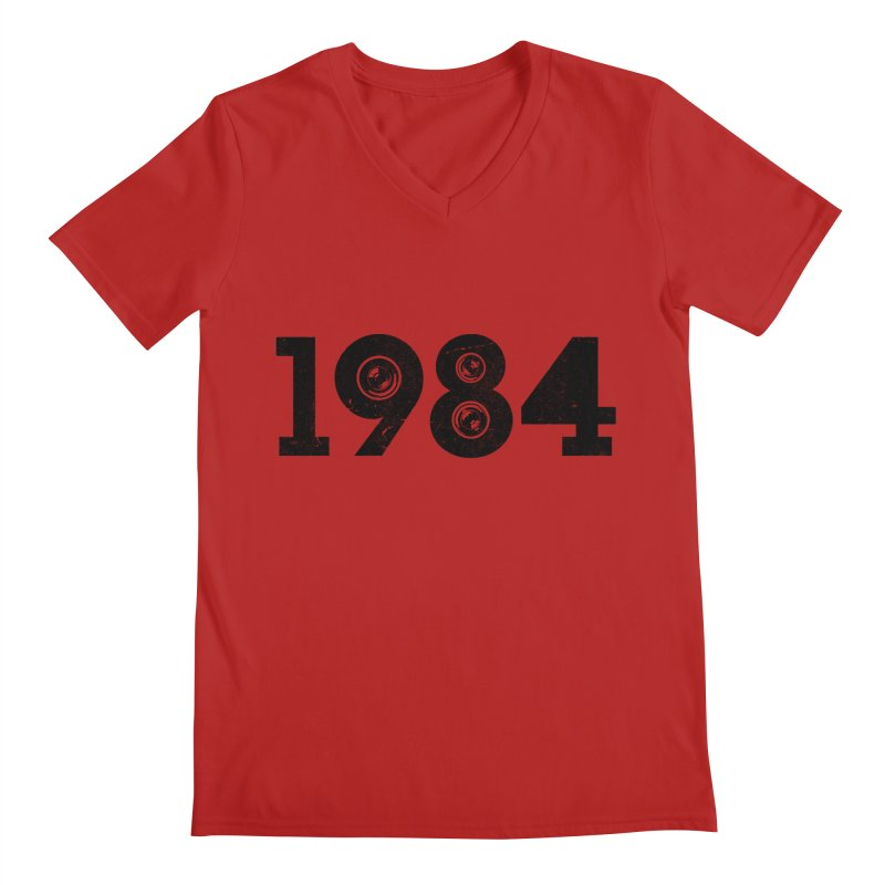 1984 Men's V-Neck by ayarti's Artist Shop