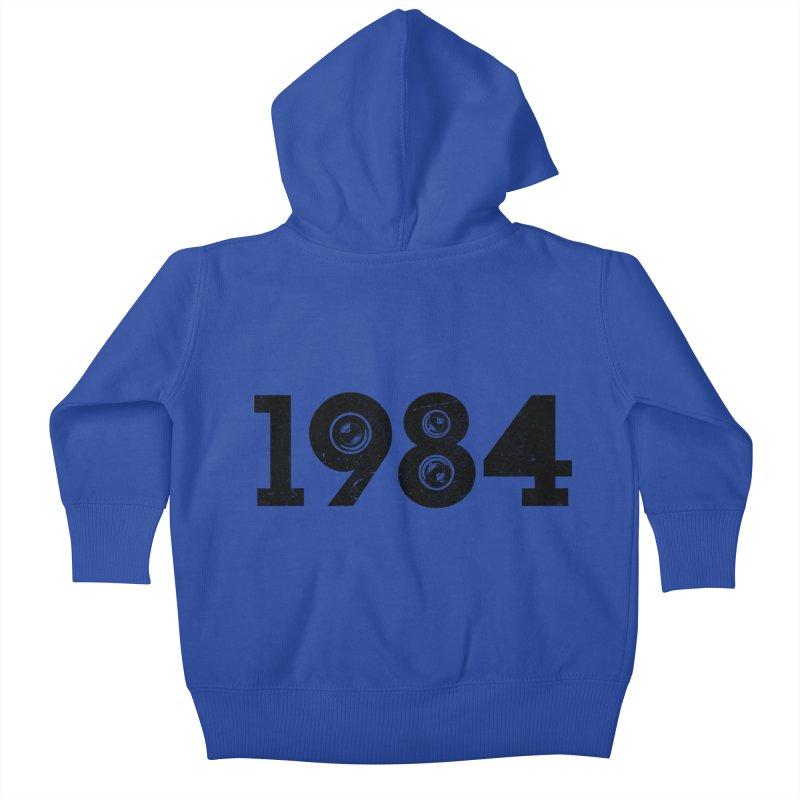 1984 Kids Baby Zip-Up Hoody by ayarti's Artist Shop