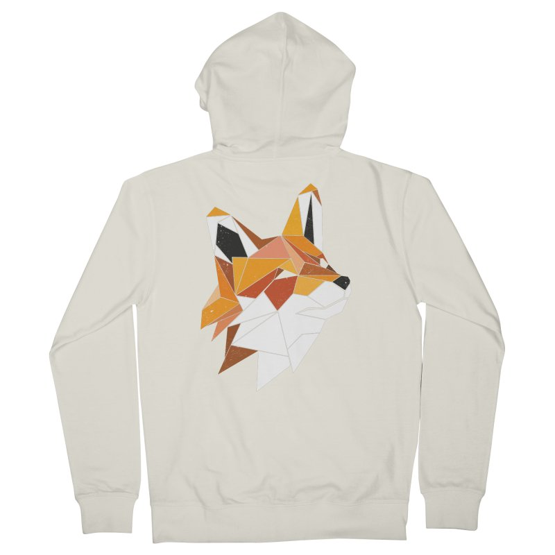 Faux Renard Men's Zip-Up Hoody by ayarti's Artist Shop