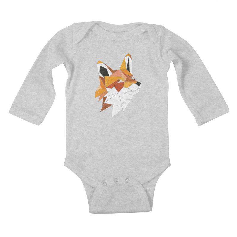 Faux Renard Kids Baby Longsleeve Bodysuit by ayarti's Artist Shop