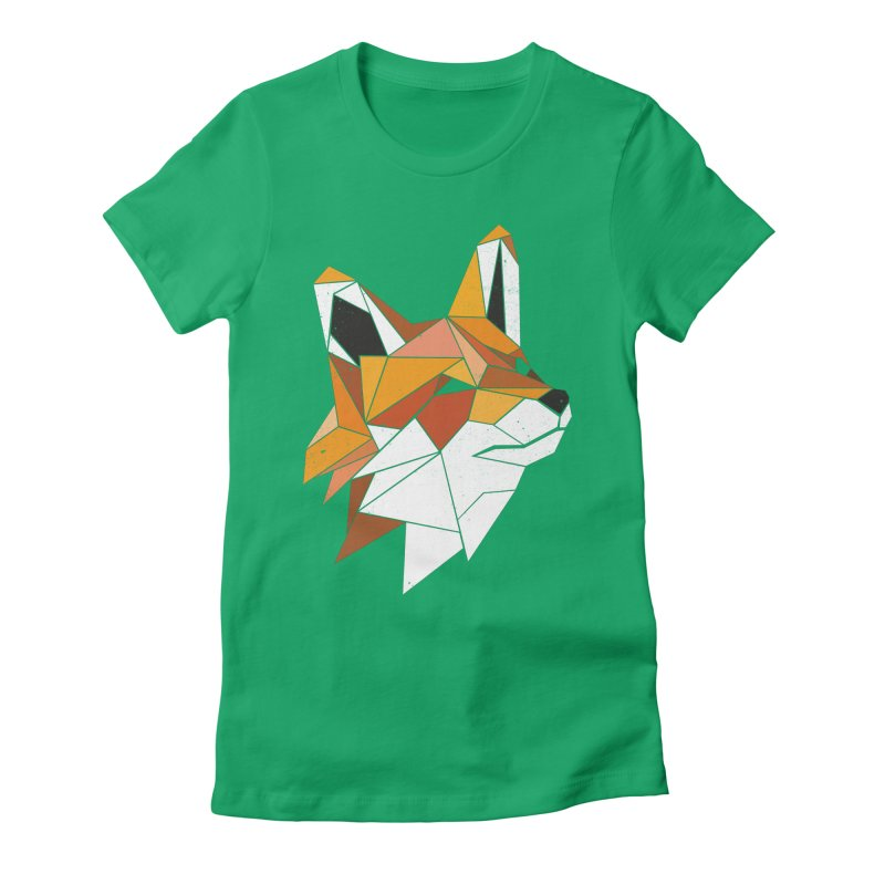 Faux Renard Women's Fitted T-Shirt by ayarti's Artist Shop