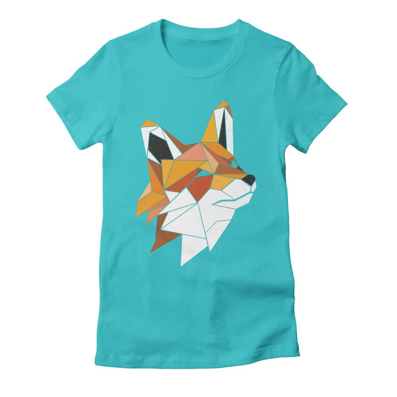 Faux Renard Women's Fitted T-Shirt by ayarti's Artist Shop