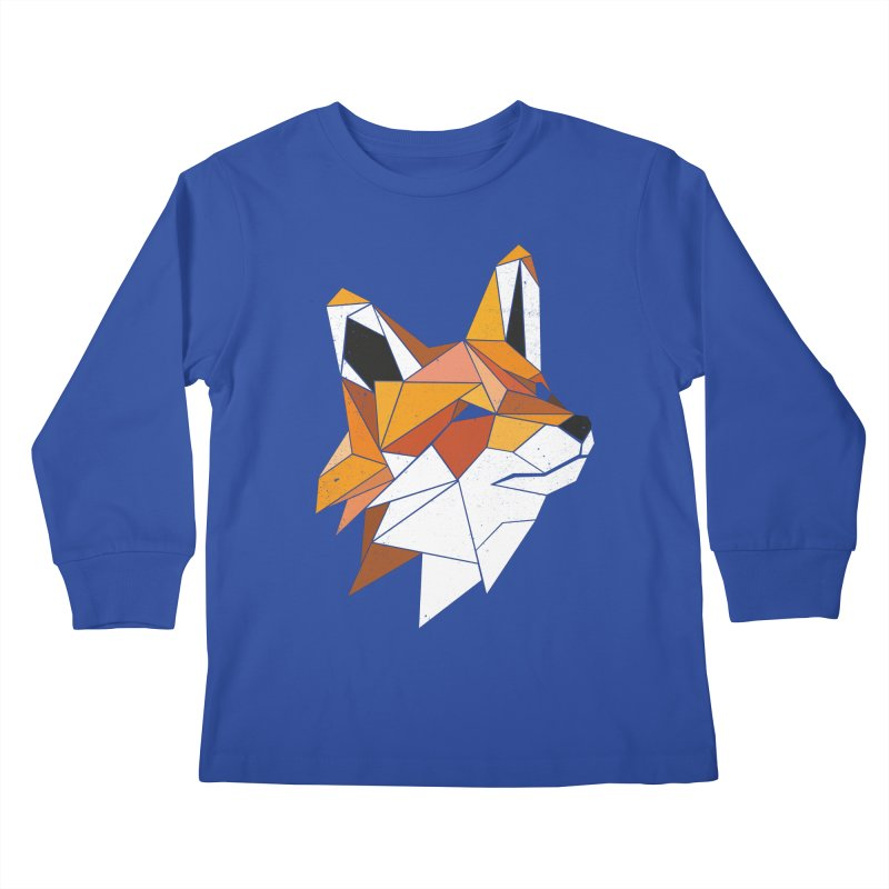 Faux Renard Kids Longsleeve T-Shirt by ayarti's Artist Shop