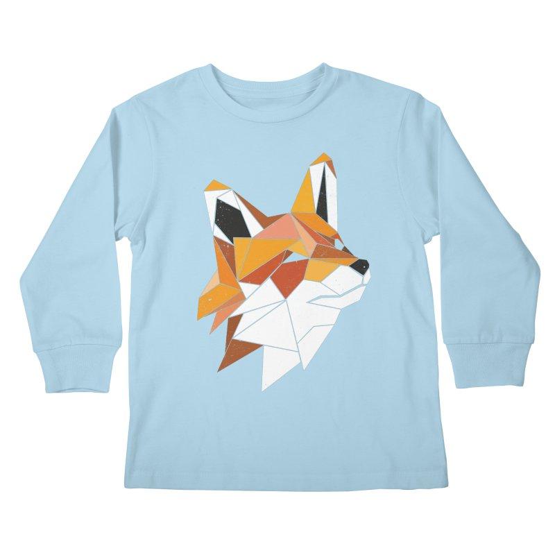 Faux Renard Kids Longsleeve T-Shirt by ayarti's Artist Shop