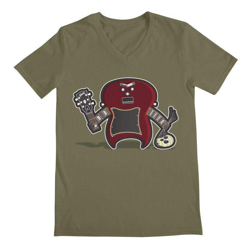 Frankenstein's Guitar Men's V-Neck by ayarti's Artist Shop