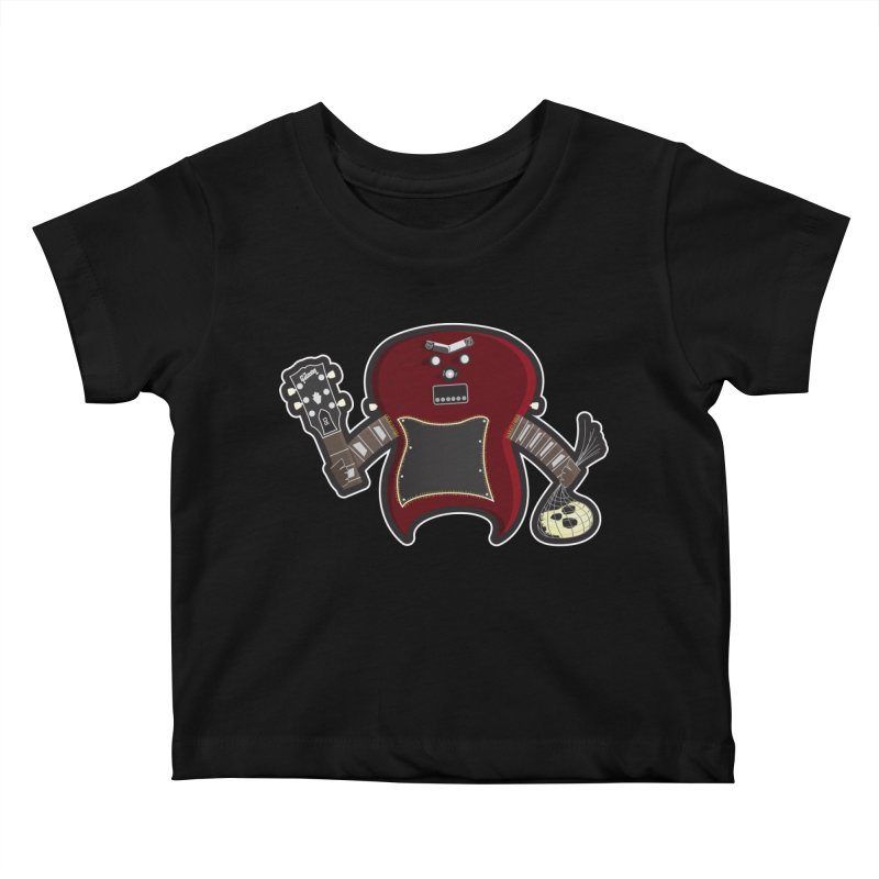 Frankenstein's Guitar Kids Baby T-Shirt by ayarti's Artist Shop