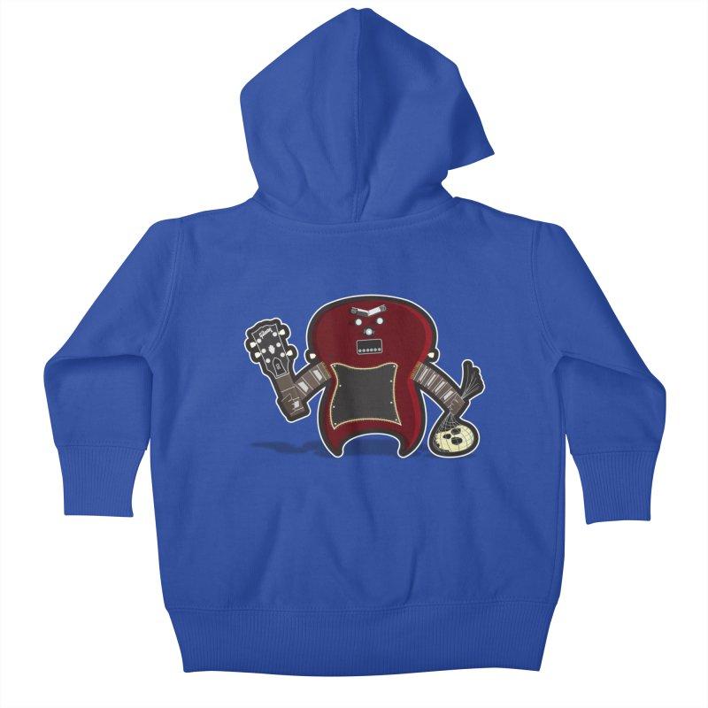 Frankenstein's Guitar Kids Baby Zip-Up Hoody by ayarti's Artist Shop