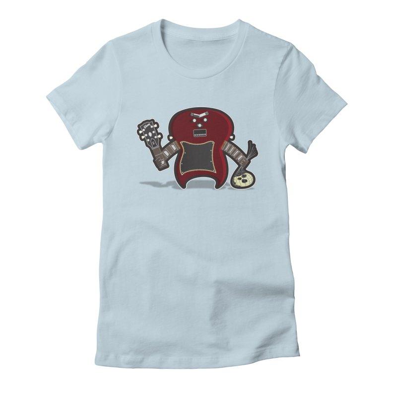 Frankenstein's Guitar Women's Fitted T-Shirt by ayarti's Artist Shop
