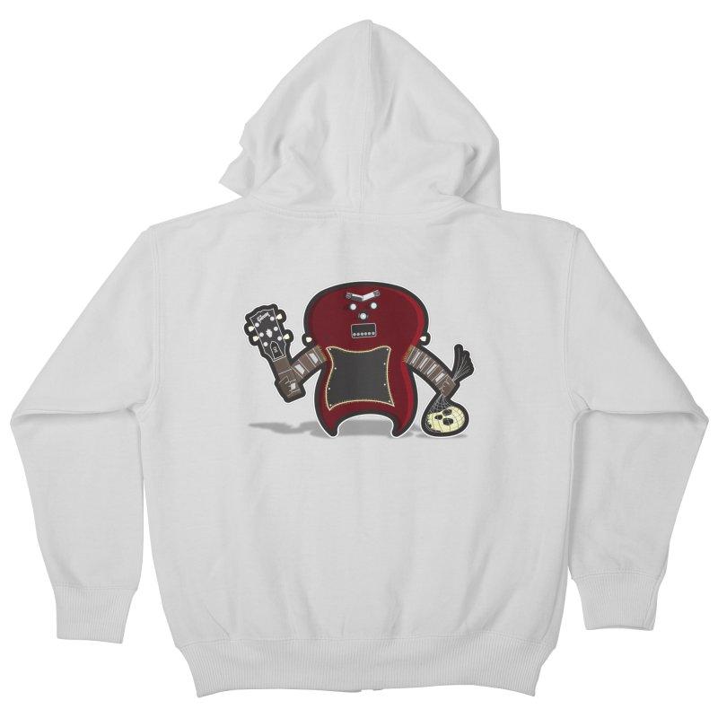 Frankenstein's Guitar Kids Zip-Up Hoody by ayarti's Artist Shop