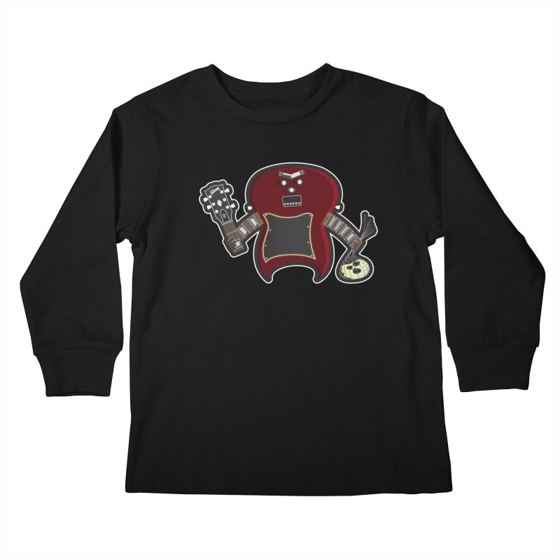 Frankenstein's Guitar Kids Longsleeve T-Shirt by ayarti's Artist Shop