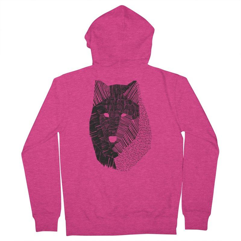 Wolf Mask Women's Zip-Up Hoody by ayarti's Artist Shop