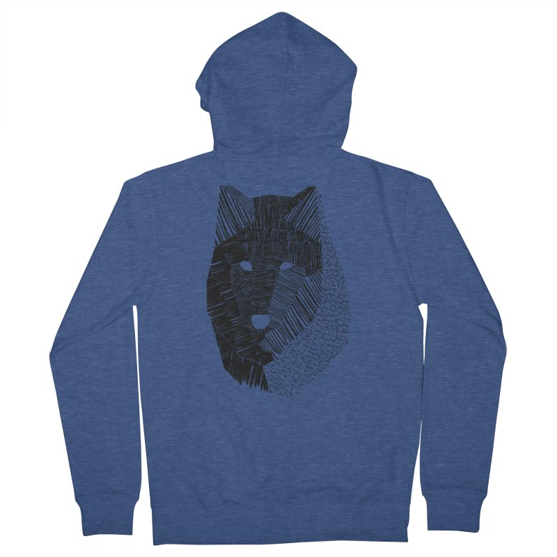Wolf Mask Men's Zip-Up Hoody by ayarti's Artist Shop