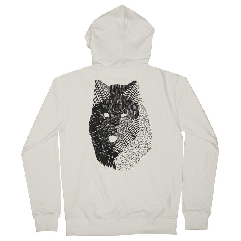 Wolf Mask Men's Zip-Up Hoody by ayarti's Artist Shop