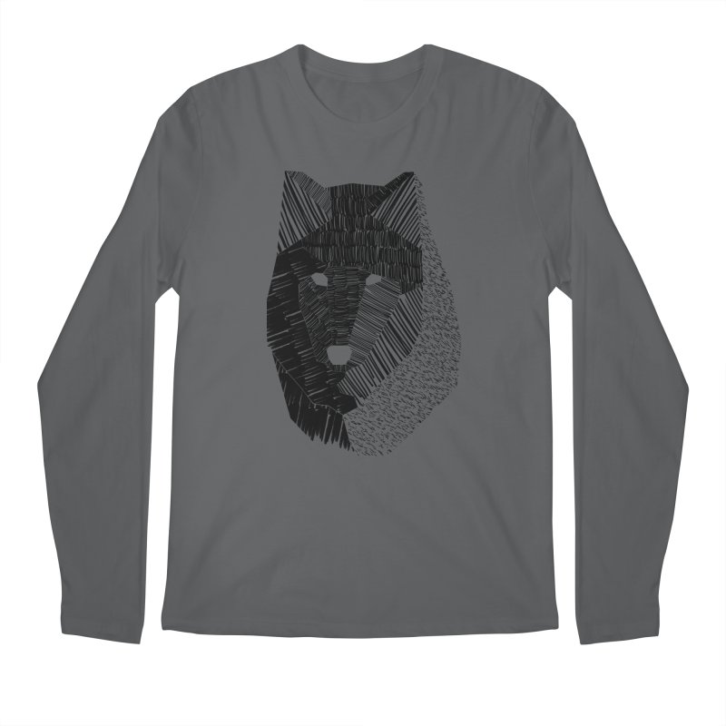 Wolf Mask Men's Longsleeve T-Shirt by ayarti's Artist Shop