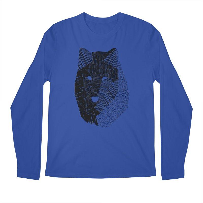 Wolf Mask Men's Longsleeve T-Shirt by ayarti's Artist Shop