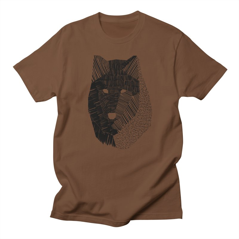 Wolf Mask Men's T-Shirt by ayarti's Artist Shop
