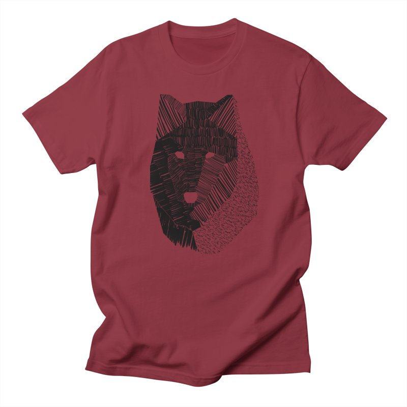 Wolf Mask Men's T-shirt by ayarti's Artist Shop