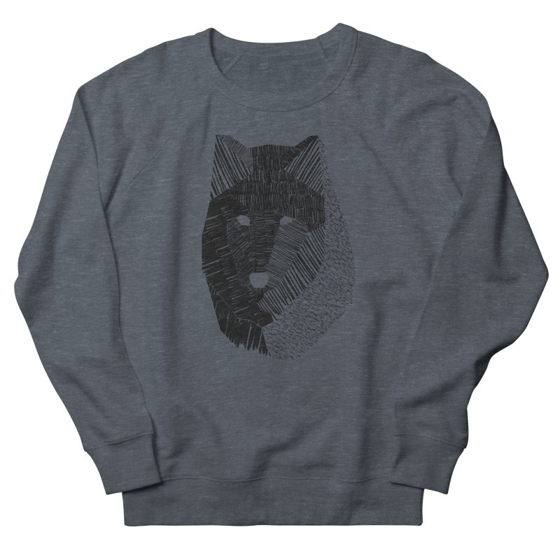 Wolf Mask Women's Sweatshirt by ayarti's Artist Shop
