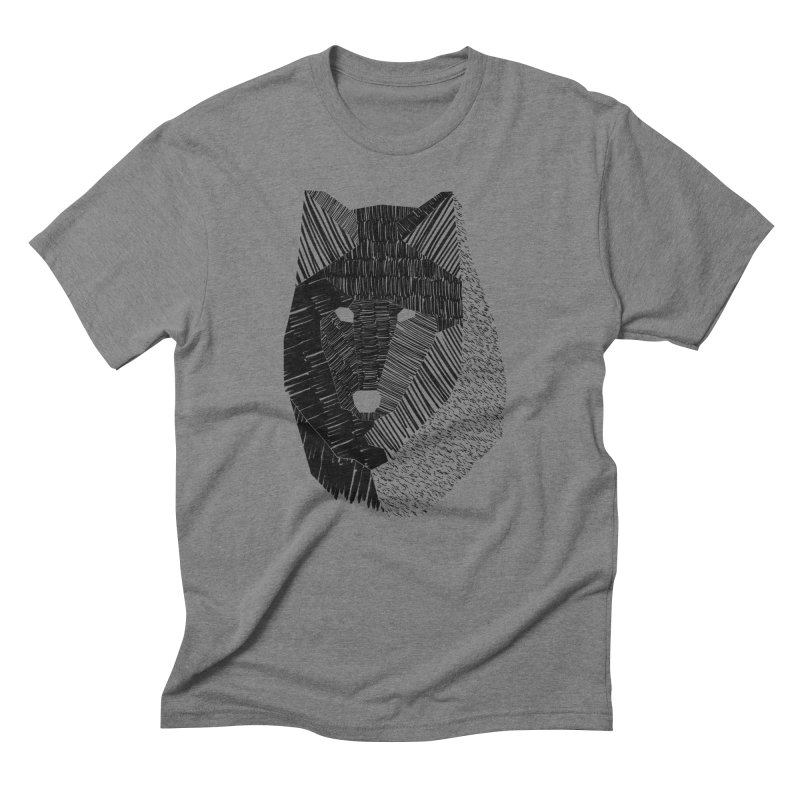 Wolf Mask Men's Triblend T-Shirt by ayarti's Artist Shop